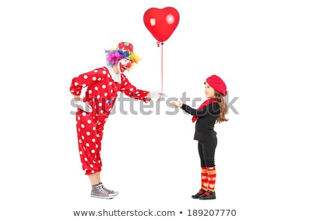 Clown giving balloons to children Stock photo © mintymilk
