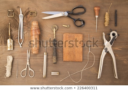 Thread for leather craft Stock photo © leungchopan
