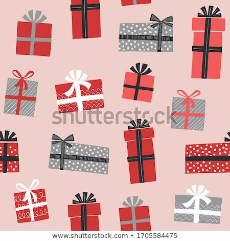 Karácsony ajándék kicsi ajándék borospohár ünnep Stock fotó © MKucova