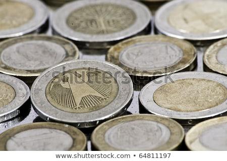 argent · pièce · horizontal · brillant · dollar - photo stock © kirill_m