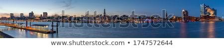 Downtown panorama of Hamburg Stock photo © elxeneize