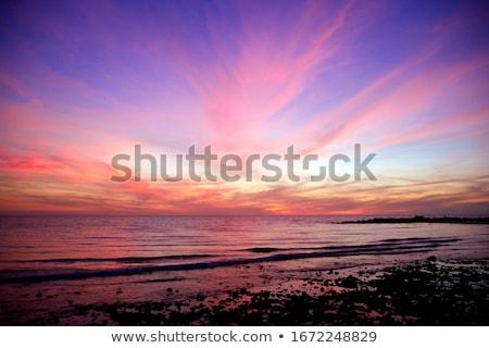 海 日の出 水 雲 日没 風景 ストックフォト © actionsports