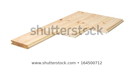 Pine floorboards isolated over white with clipping path. Stock photo © ppart