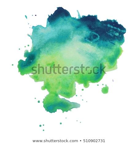 grunge · groene · inkt · witte · achtergrond · silhouet - stockfoto © sfinks