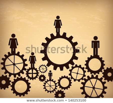 Sociology Concept. Vintage Design Background. Stock photo © tashatuvango