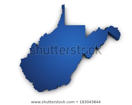 Kék térkép Nyugat-Virginia 3D forma színes Stock fotó © NiroDesign