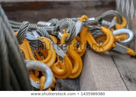 Touwen metaal ring rond touw boot Stockfoto © danielbarquero