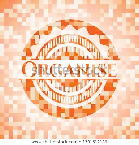 oranges organised in square pattern Stock photo © meinzahn