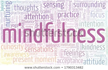 yoga word collage on white background stock photo © m_pavlov
