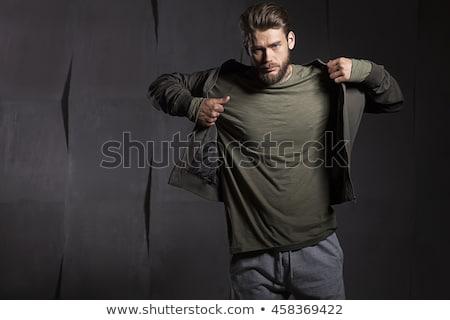 ハンサム 若い男 オフ グレー Tシャツ ストックフォト © Nejron