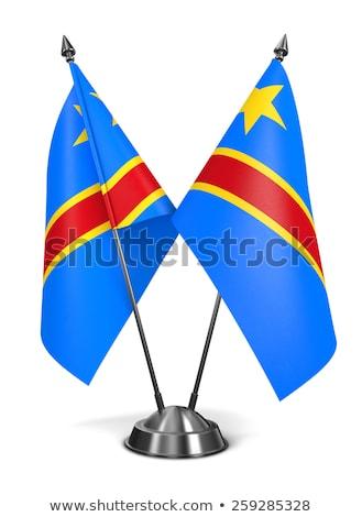 Democrático república Congo pequeño bandera mapa Foto stock © tashatuvango