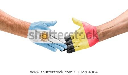 Aperto de mão Argentina Bélgica futebol esportes mundo Foto stock © Zerbor
