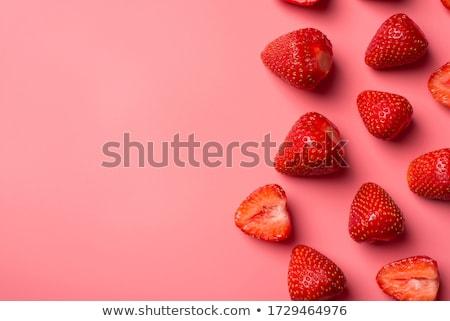 Vermelho morangos abstrato fresco branco fundo Foto stock © boroda