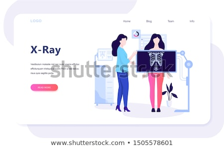 Xray urządzenie wiszący sufit szpitala rentgenowskie Zdjęcia stock © ivonnewierink