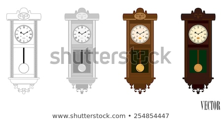Huge pendulum clock Stock photo © HASLOO