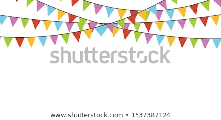 Party bunting background in flat style. Stock photo © gladiolus