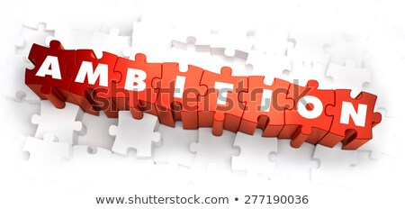 Managing Emotions on Red Puzzle. Stock photo © tashatuvango