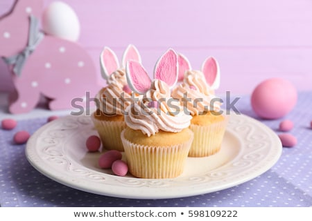 easter cupcake with buttercream and eggs stock photo © m-studio