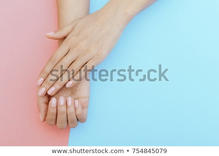 Woman with manicured natural nails Stock photo © juniart