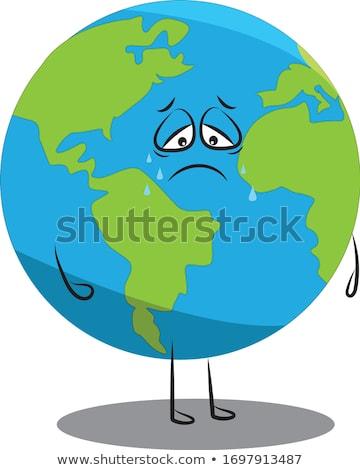 悲しい · 地球 · 保存 · 惑星 · 世界 - ストックフォト © alexmillos