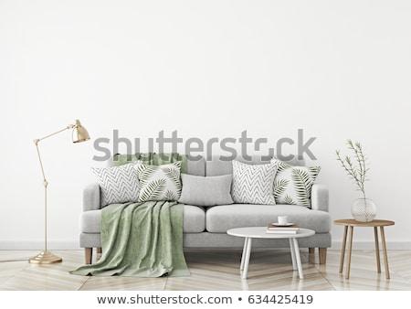 Сток-фото: зеленый · квадратный · домой