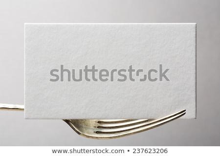 étterem névjegyek sablon copy space fából készült kotlett Stock fotó © stevanovicigor
