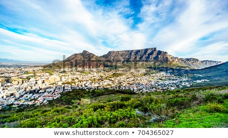 Scenic road at Table mountain. Cape Town, South Africa. Stock photo © tang90246