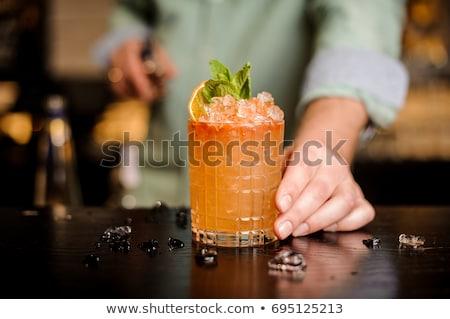 オレンジ カクテル ソルベ 孤立した グレー 食品 ストックフォト © fotorobs