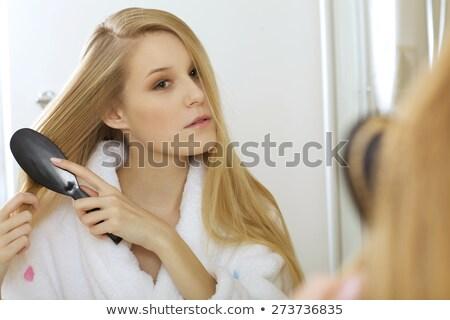 女性 美しい 黒い髪 性的 長い 親密 ストックフォト © pressmaster