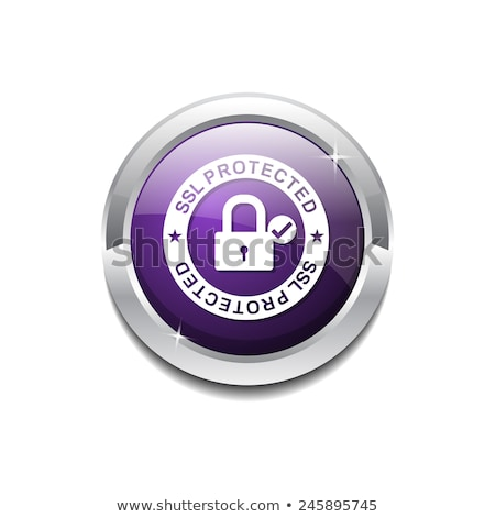 secure link purple circular vector button stock photo © rizwanali3d