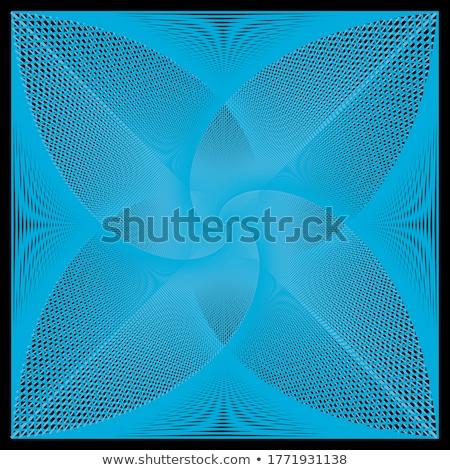 Monochrome pattern with black wavy guilloche squares Stock photo © Zebra-Finch