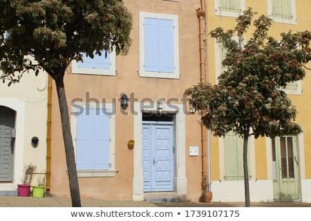 Mavi akdeniz ev Fransa Bina Stok fotoğraf © pumujcl
