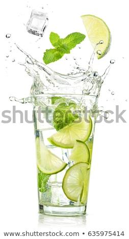 跳ね 水 レモン 下がり ガラス 白 ストックフォト © Valeriy