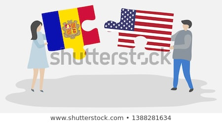 usa and andorra flags in puzzle stock photo © istanbul2009