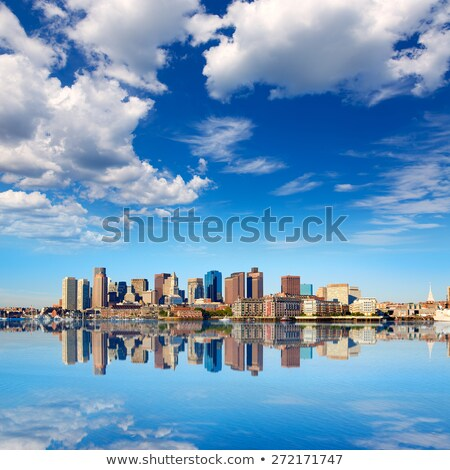 Boston · horizonte · río · luz · del · sol · Massachusetts · EUA - foto stock © lunamarina
