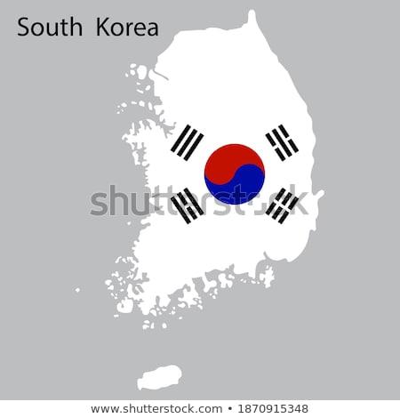 south korea flag map Stock photo © tony4urban