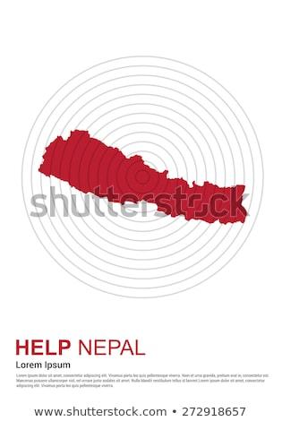 Nepal terremoto 2015 ajudar ilustração doação Foto stock © vectomart