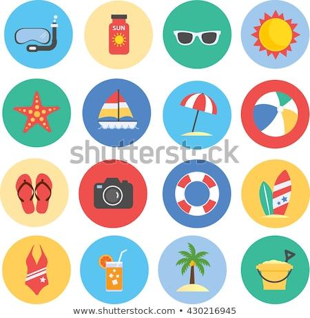 Colorful Summer Icons Set Stock photo © Voysla