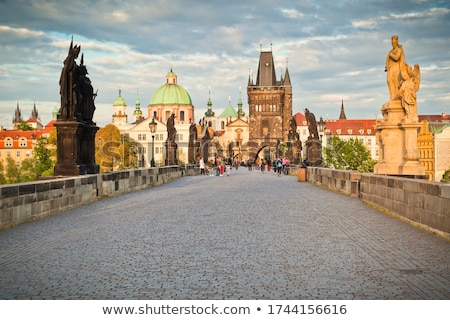 the old town with charles bridge tower in prague stock photo © andreykr