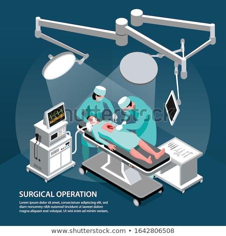 команда хирурги операция пациент больницу Сток-фото © lightpoet