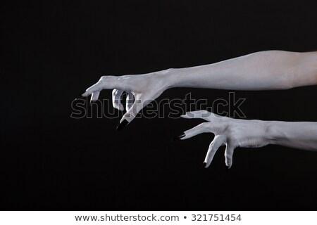 arrepiante · zumbi · mão · extremo · mulher - foto stock © elisanth