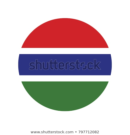 Round sticker with flag of gambia Stock photo © MikhailMishchenko