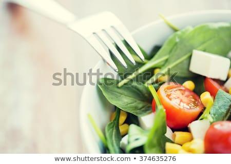 Primo piano dieta sana mangiare sano dieta insalata Foto d'archivio © nyul