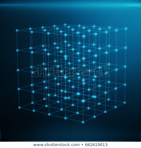drótváz · háló · absztrakt · űrlap · vonalak · alacsony - stock fotó © smeagorl
