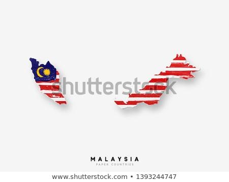 フラグ マレーシア 描いた ブラシ 固体 抽象的な ストックフォト © tang90246