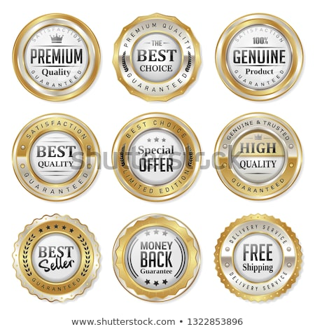 Genuine Product Golden Vector Icon Button Stock photo © rizwanali3d