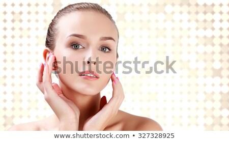 Chique vrouw abstract gezicht licht achtergrond Stockfoto © Nobilior