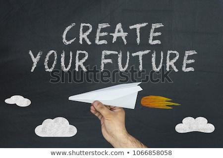 Create New Future - Inspirational Quote on Chalkboard. Stock photo © tashatuvango