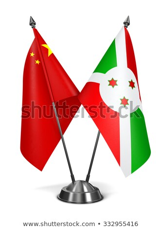 bandeira · Burundi · dois · ondulado · bandeiras · isolado - foto stock © tashatuvango