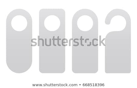 Ajtó vállfa nem hotelszoba fa háttér Stock fotó © giko